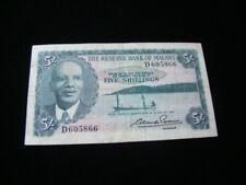 Malawi 1964 5 Shillings Banknote Fine Pick #1