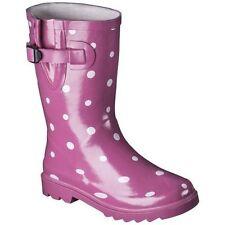 Girl's Pink Novel Dot Rain Boots Size 4 *FREE SHIPPING*