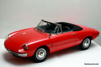 """Alfa Romeo 1600 Duetto Spider 1966 rot 1:8  """" 52cm lang """" (ähn.wie Pocher) >NEW<"""