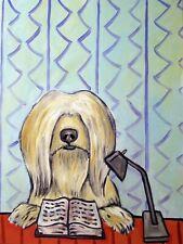tibetan terrier dog pop art Print dog abstract painting 8x10 Jschmetz library