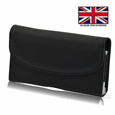 Leather Elastic Belt Pouch Holster Holder Clip Case Cover For HTC Wildfire X