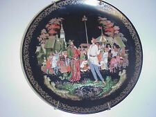 Bradex Russian Priest & Servant Baldo Plate Folklore & Fairytales