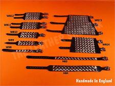 Kugel NEU verstellbar Leder Punk Pyramid Bracelet UK gemacht Gothic Armband