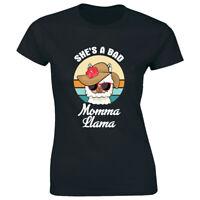 She's a Bad Momma Llama Women's T-Shirt Funny Sassy Mom Tee Cute Animal Gift