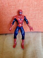 "Vintage Spider-Man 5"" Figure Poseable Jointed Toybiz Red Blue Silver 1995 Rare"