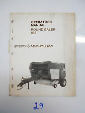 1983 Sperry New Holland 858 Hay Round Baler Operators Owners Manual 42085811