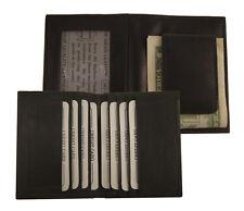 AG Wallets BLACK MAGNET MONEY CLIP Bifold FRONT POCKET Outside ID Leather Wallet