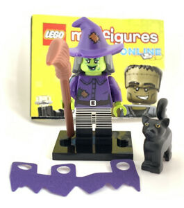 LEGO Wacky Witch Minifigure - Series 14 - CMF - Halloween - New - Black Cat