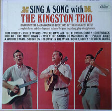 SING A SONG WITH THE KINGSTON TRIO - INSTRUMENTAL LP - CAPITOL LP + LYRICS