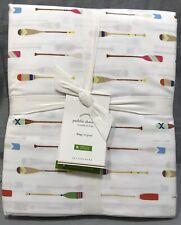 Pottery Barn Paddle Print Organic King Sheet Set