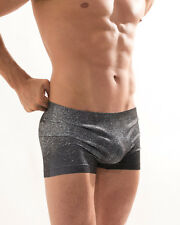 CROOTA Mens Underwear, Seamless, Low Rise Boxer Briefs, Open S/M