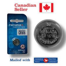 CR1616 NEW! Renata Lithium 3V Coin Button Battery