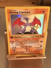 Holo Shining Charizard Custom Pokemon Card - Nice Artwork - perfect Condition