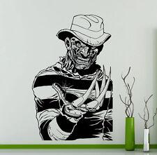 Freddy Krueger Wall Decal Vinyl Sticker Horror Movie Home Art Decor Murals 237su