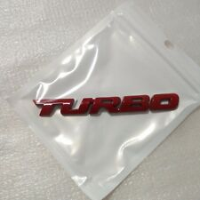 Metal RED Turbo Emblem Car Fender Side Sticker for ALL Car Motor Turbo Badge