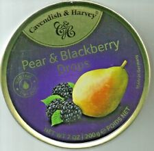 New listing Premium Cavendish & Harvey Pear & Blackberry Fruit Drops, 7oz Tin Canister