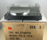 YAMAHA PX-3 TURNTABLE W/ ORIGINAL HEADSHELL & DUST COVER MANUAL ORIGINAL BOX