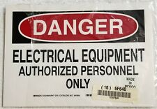 Danger Signs Lot Of 9 Vinyl Withadhesive Back Electrical Equipment 7 X 10 New