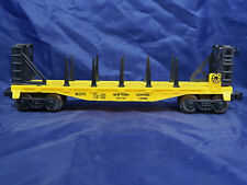 LIONEL NEW YORK 16375 YELLOW FLAT CAR. VINTAGE O27. MINT From 1993 NYC FLYER Set