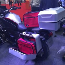 PANNIER LINERS INNER BAGS FOR HONDA VFR 1200X CROSS TOURER EXPANDABLE IN RED CLR