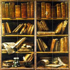Art Giuseppe Crespi Antique Books Ceramic Mural Backsplash Tile #692
