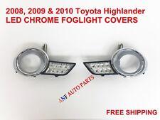 2008-2010 toyota highlander fog light cover led chrome