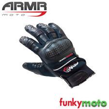 Gants noirs articulation pour motocyclette Femme