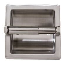 Recessed Toilet Paper Holder with Stainless Steel Construction - Satin Nickel
