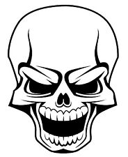 20cm SKULL waterproof decal sticker tattoo for Car, 4x4, ute, boat,mancave shed!