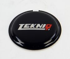 Tekniq Horn Button Emblem - Black with Tekniq Logo - MADE IN ITALY