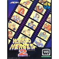 Neo Geo AES Spiel - World Heroes 2 Spiel - 146 Megs (JAP) (mit OVP)