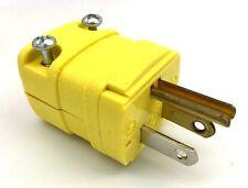 HUBBELL HBL5966VY MALE PLUG 15-AMP 125-VOLT NEMA 5-15P