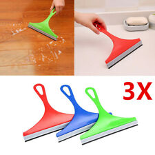 3X Window Wiper Soap Cleaner Squeegee Shower Bathroom Mirror Car Blade Brushes