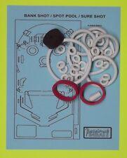 1976 Gottlieb Bank Shot / Spot Pool / Sure Shot pinball rubber ring kit