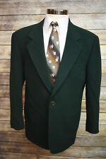 Hugo Boss Green Wool Cashmere Sport Coat Blazer Jacket Italy 40R