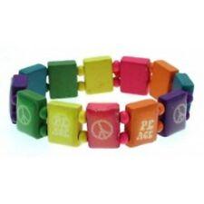 infantil Paz multicolor madera Bracelet Elástico Pulseras