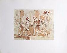 Le RETOUR du FILS PRODIGUE par Le GUERCHIN (1591-1666) Dessin Rehaussé Imprimé