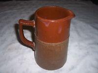 Vintage Australian Bendigo or Castlemaine Langley Pottery Ware Water Pitcher Jug