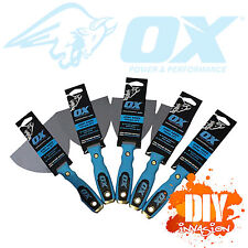 OX Tools Stainless Steel Joint Knife 6 Pack Hammer Head Plastering Painting