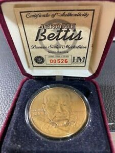 Limited Edition Jerome Bettis Pittsburgh Steelers Highland Mint Bronze Coin Rare