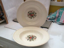 Earthenware Tableware British Wedgwood Pottery Soup Bowls