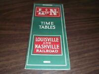 JUNE 1943 L&N LOUISVILLE AND NASHVILLE SYSTEM PUBLIC TIMETABLE SCARCE WWII ISSUE
