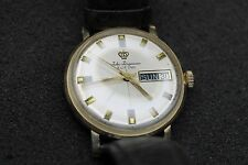 A980 Vintage Jules Jurgensen - Manual - 14k Yellow Gold - Watch w/ Leather Band