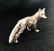 Pewter Fox Highly Detailed Silver Metal Figurine #179