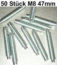 50 Madenschrauben Schraube M 8 x 47 Schrauben Gewindestifte Zapfen Madenschraube