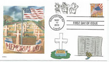 MEMORIAL DAY  UNKNOWN SOLDIER  VETERANS  WALL  FLAG  SALUTE  CROSSES   FDC- DWc
