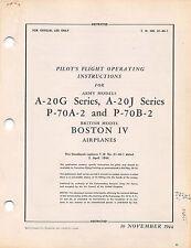A-20G Series, A-20J Series Flight Operating Instructions Flight Manual 1944 - CD