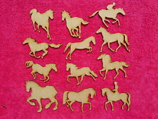 mdf wood laser cut Horse craft blank  shapes plaques embellishments 3mm Thick