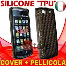 Cover Custodia Gel TPU Nero Per SAMSUNG Wave 3 S8600 silicone