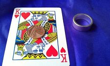 Pk Silver Magnetic Ring 19/20mm Plus Magnetic PK card + coin, Magic Trick NeFB